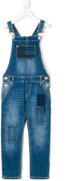 Tommy Hilfiger Junior patched denim dungarees