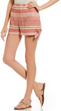 Copper Key Stripe Side Tie Shorts