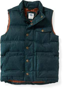 Old Navy Textured-Herringbone Quilted Vest For Boys