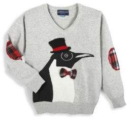 Andy & Evan Toddler's,Little Boy's & Boy's Holiday Penguin Cotton Sweater