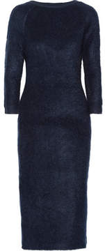 Prada - Mohair-blend Midi Dress - Navy
