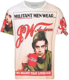 J.W.Anderson militant print T-shirt