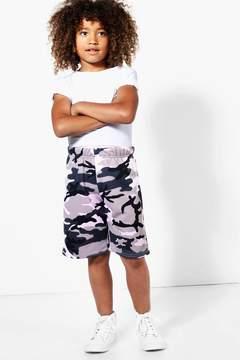 boohoo Boys Camo Loopback Shorts