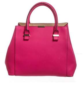 Victoria Beckham Pink Leather Quincy Tote Bag.