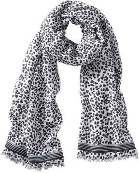 Joe Fresh Women's Dot Print Frayed Scarf, White (Size O/S)