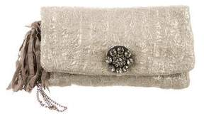 Lanvin Metallic Woven Clutch