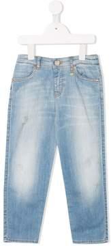 Emporio Armani Kids stonewashed jeans