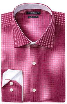Tailorbyrd Patterned Trim Fit Dress Shirt