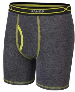 Hanes Boys X-Temp Long Boxer Brief, 4 Pack