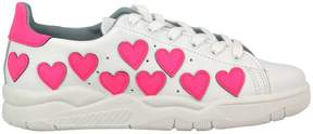 Chiara Ferragni Sneakers Roger Sneakers In Genuine Leather With Maxi Hearts