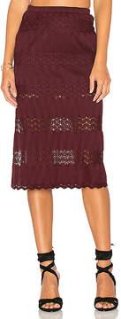 Band of Gypsies Crochet Midi Skirt