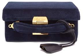 Mark Cross Grace Small Velvet Cross Body Bag - Womens - Navy