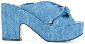Robert Clergerie Esther denim sandals