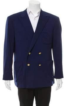 Ralph Lauren Purple Label Wool Double-Breasted Blazer