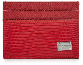 Dolce & Gabbana Leather Card Holder - RED - STYLE