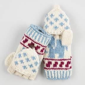 World Market Light Blue Wool Elephant Convertible Gloves