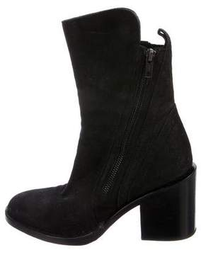 Ann Demeulemeester Suede Square-Toe Boots