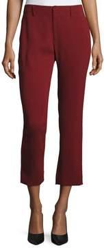 Co Crepe Cigarette Pants, Dark Red