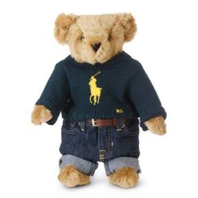 Ralph Lauren Limited-Edition Big Pony Bear Green One Size