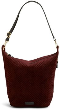 Vera Bradley Carson Velvet Hobo Bag - CHOCOLATE RAISIN - STYLE