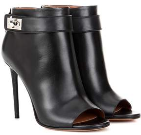 Givenchy Shark leather peep-toe ankle boots