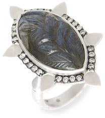 Coomi Affinity Ring with Carved Labradorite and Diamonds