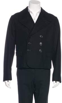Christian Dior Cropped Wool Peacoat
