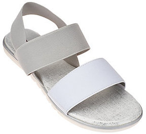 Me Too As Is Gored Double Strap Sandals w/ Backstrap - Brielle