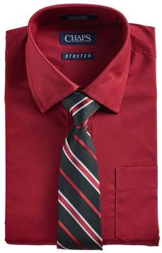 Chaps Boys 4-7 Button-Down Shirt & Tie Set