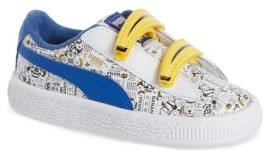 Puma Infant Girl's Minions Basket V Sneaker