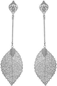 Amrita Singh Silvertone Ariane Drop Earrings