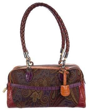 Etro Leather-Trimmed Jacquard Bag