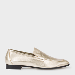 Paul Smith Women's Gold Leather 'Glynn' Penny Loafers