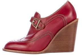 See by Chloe Leather Wedge Booties