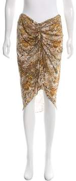 Celine Printed Silk Skirt