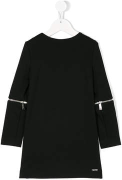 DSQUARED2 zip detail sleeve dress