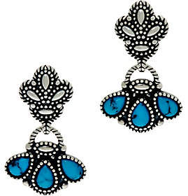 American West Kingman Turquoise SterlingDangle Earrings