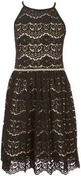 I.N. Girl Big Girls 7-16 Halter-Neck Lace Dress