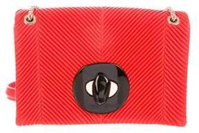 Giorgio Armani 2018 Pleated Leather Shoulder Bag w/ Tags