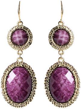 Amrita Singh Purple & Goldtone Gabby Drop Earrings