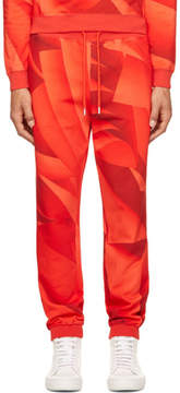 Christopher Kane Red Page Print Lounge Pants