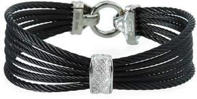 Alor Noir Multi-Strand Cable Bracelet w/ Diamond Pavé