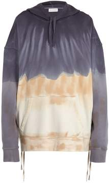 Faith Connexion Tie-dye cotton-jersey hooded sweatshirt