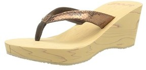 Reef Women's Reefwood Ii Wedge Sandal, Bronze Snake, Size 8.0.