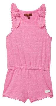 7 For All Mankind Bow Tie Romper (Little Girls)