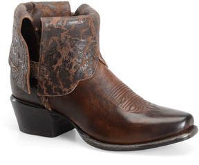 Sonora Brown Cassidy Fold-Over Leather Ankle Boot