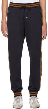 Dolce & Gabbana Navy Embellished Lounge Pants