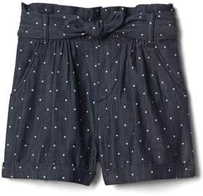 Gap Polka dot denim shorts