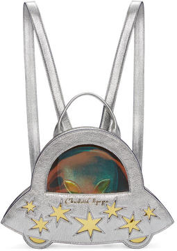 Charlotte Olympia Sliver Space Invader Backpack