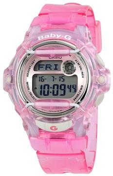 Casio Baby G Pink Resin Digital Ladies Watch